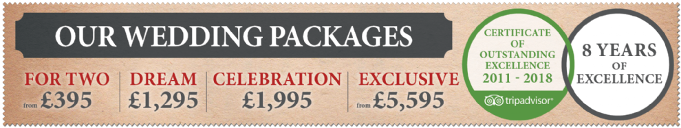 Our fantastic value wedding packages