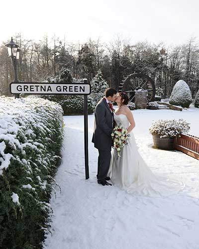 Wedding Photos Taken At The Mill Forge Hotel Near Gretna Green